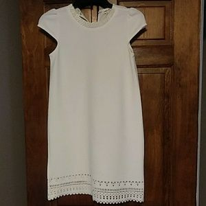 Girls cream dress